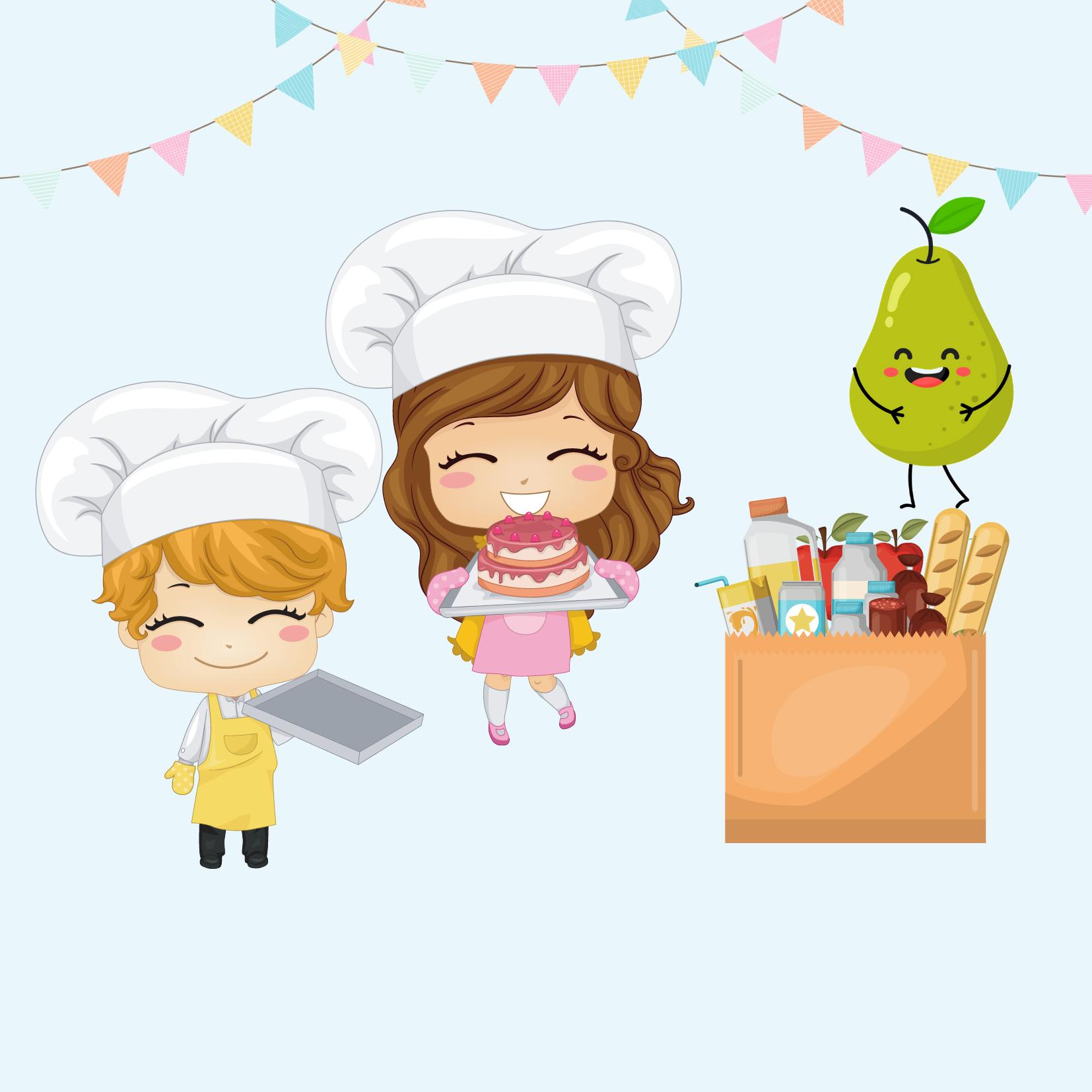 toidupakk ja retsept lastele